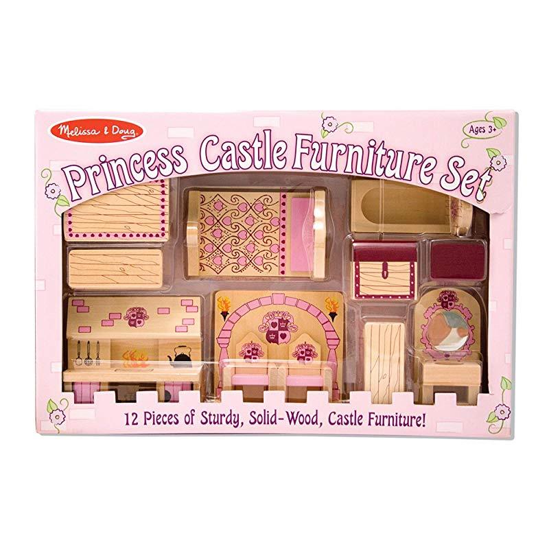 Melissa Doug Princess Castle Wooden, Wood Castle Furniture