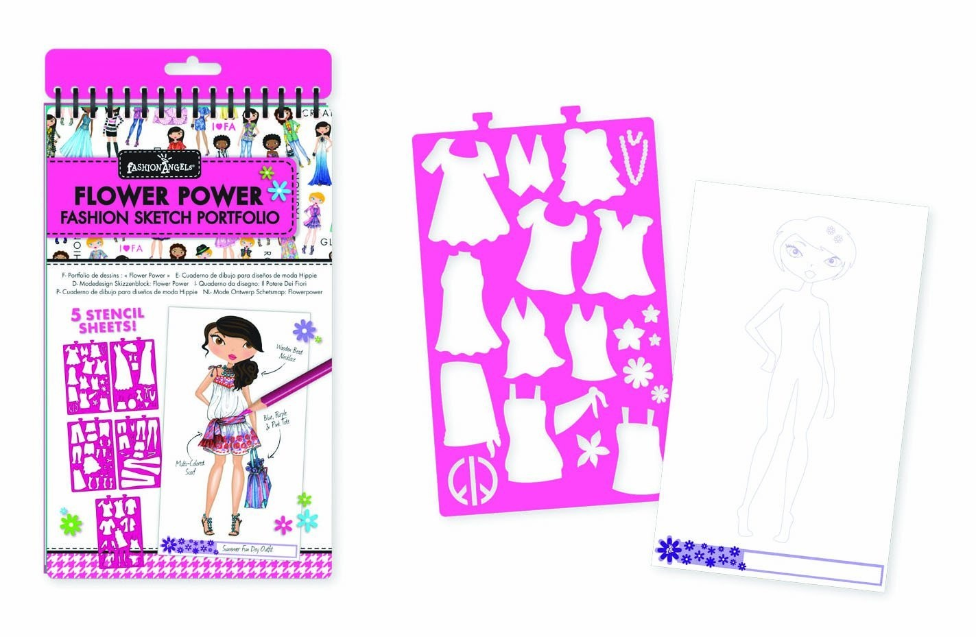 Fashion Angels 11476 Flower Power Mini Design Portfolio Sketchbooks By Fashion Angels Shop Online For Toys In The United States