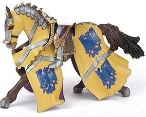 Papo Blue Horse of Knight Godefroy at Tournament