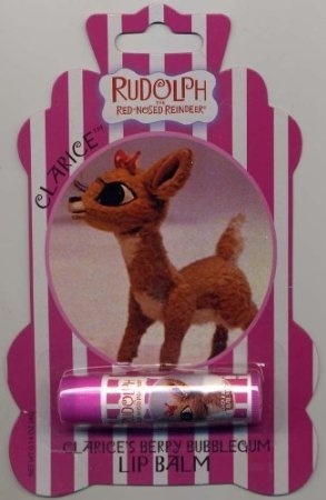 Rudolph the Red-Nose Reindeer Lip Balm Boston America CLARICE/'S BERRY BUBBLE