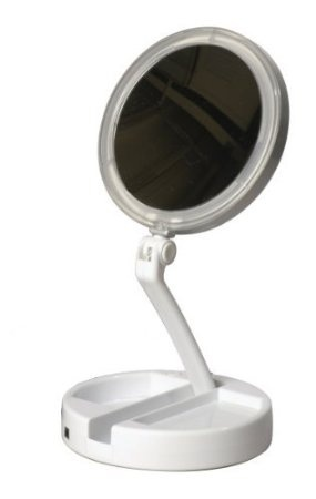 Floxite 10x 1x Lighted Magnification, Floxite 10x Lighted Travel And Home Mirror