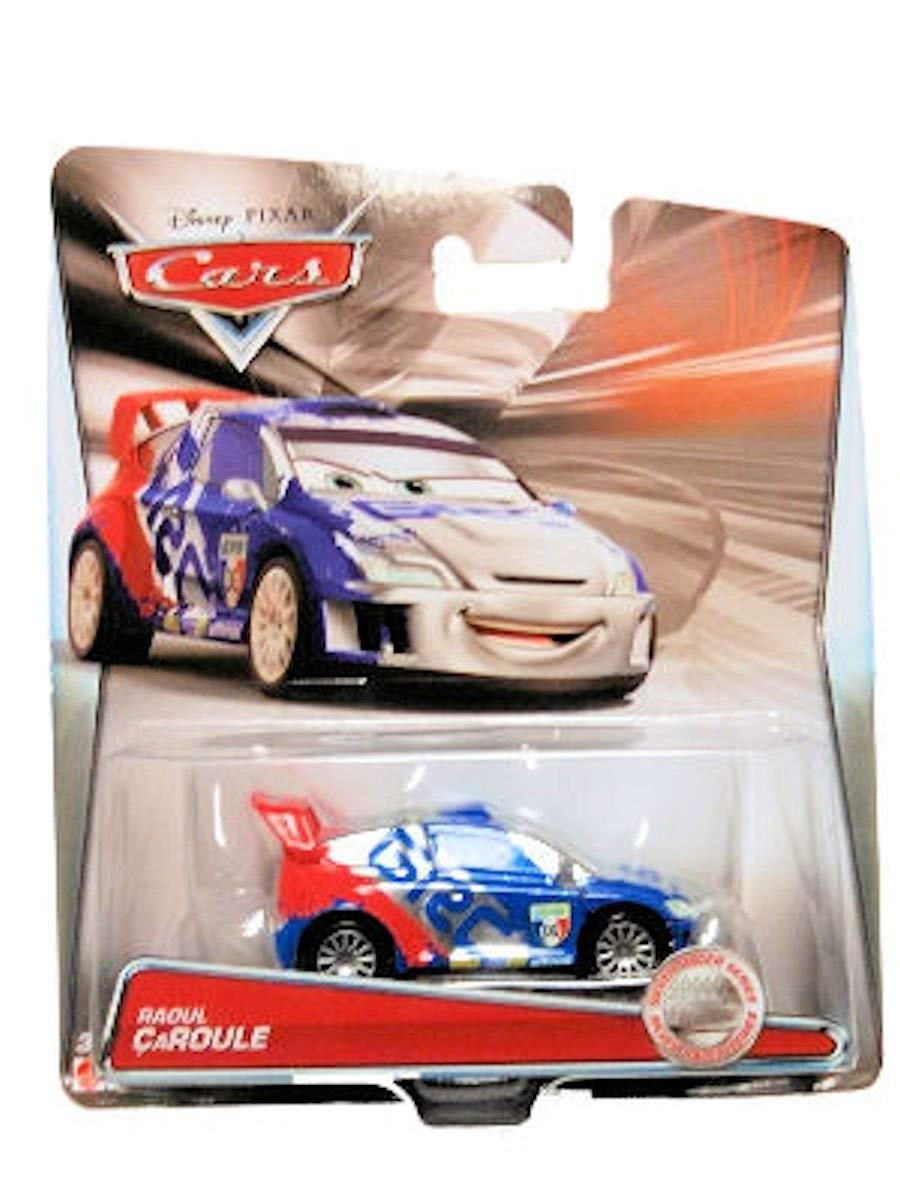 Disney Pixar CARS 2 Exclusive 1:55 Die Cast Car SILVER RACER Raoul Caroule With Metallic Finish