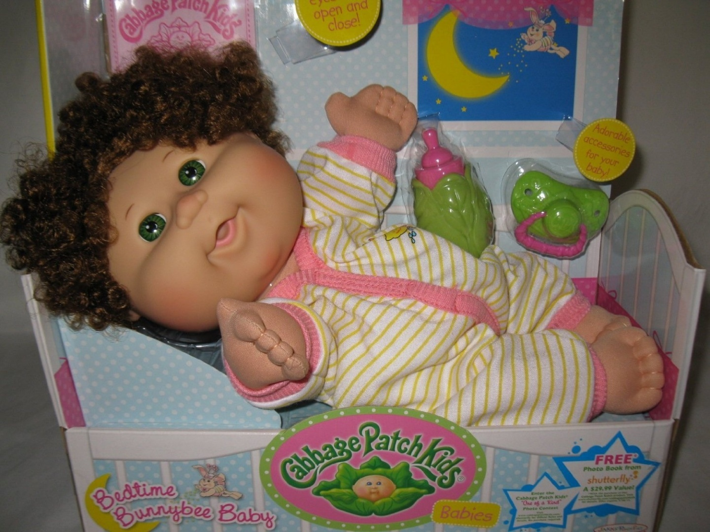 Cabbage Patch Kids Bedtime Bunnybee Baby Brown Curly Hair Green Eyes by  Jakks - Shop Online for Toys in the United States