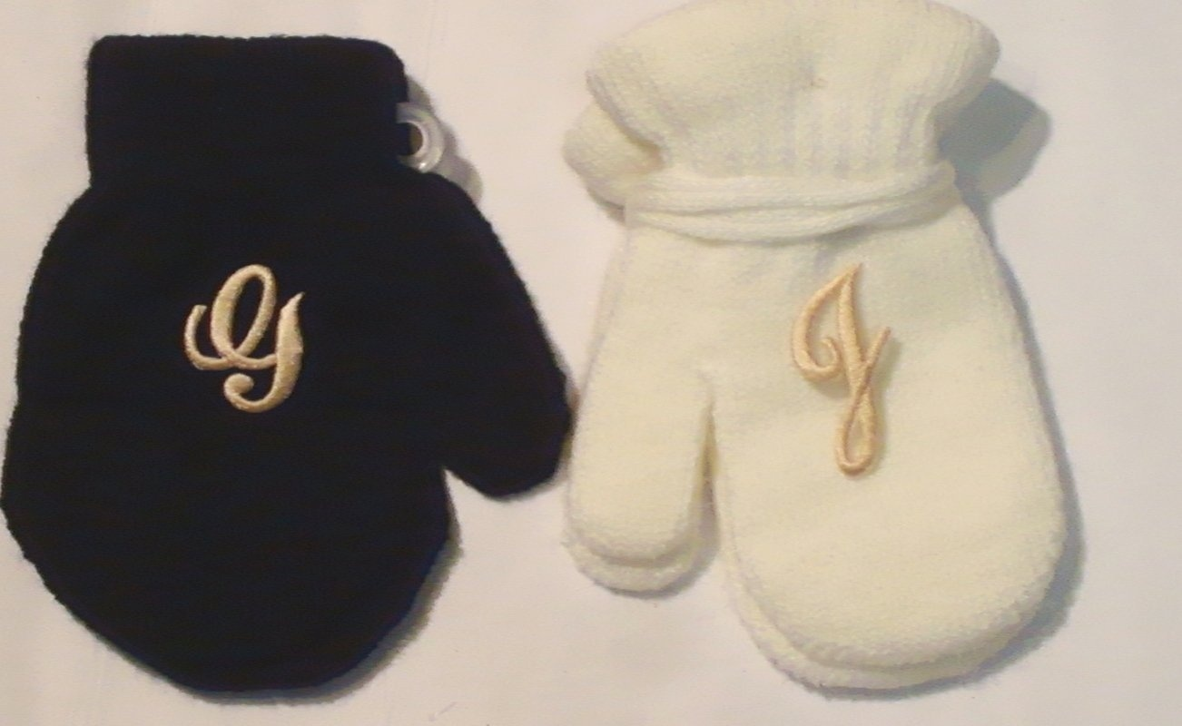 Set of Four Pairs One Size White Magic Stress Gloves for Infants Ages 1-3 Years