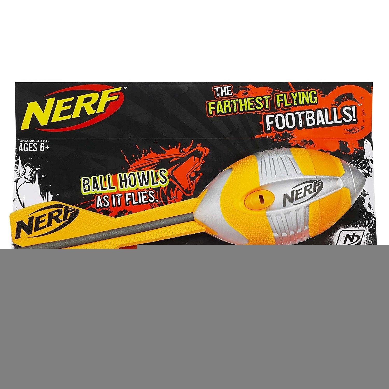 NERF N-Sports Vortex Aero Howler Football Orange and Grey