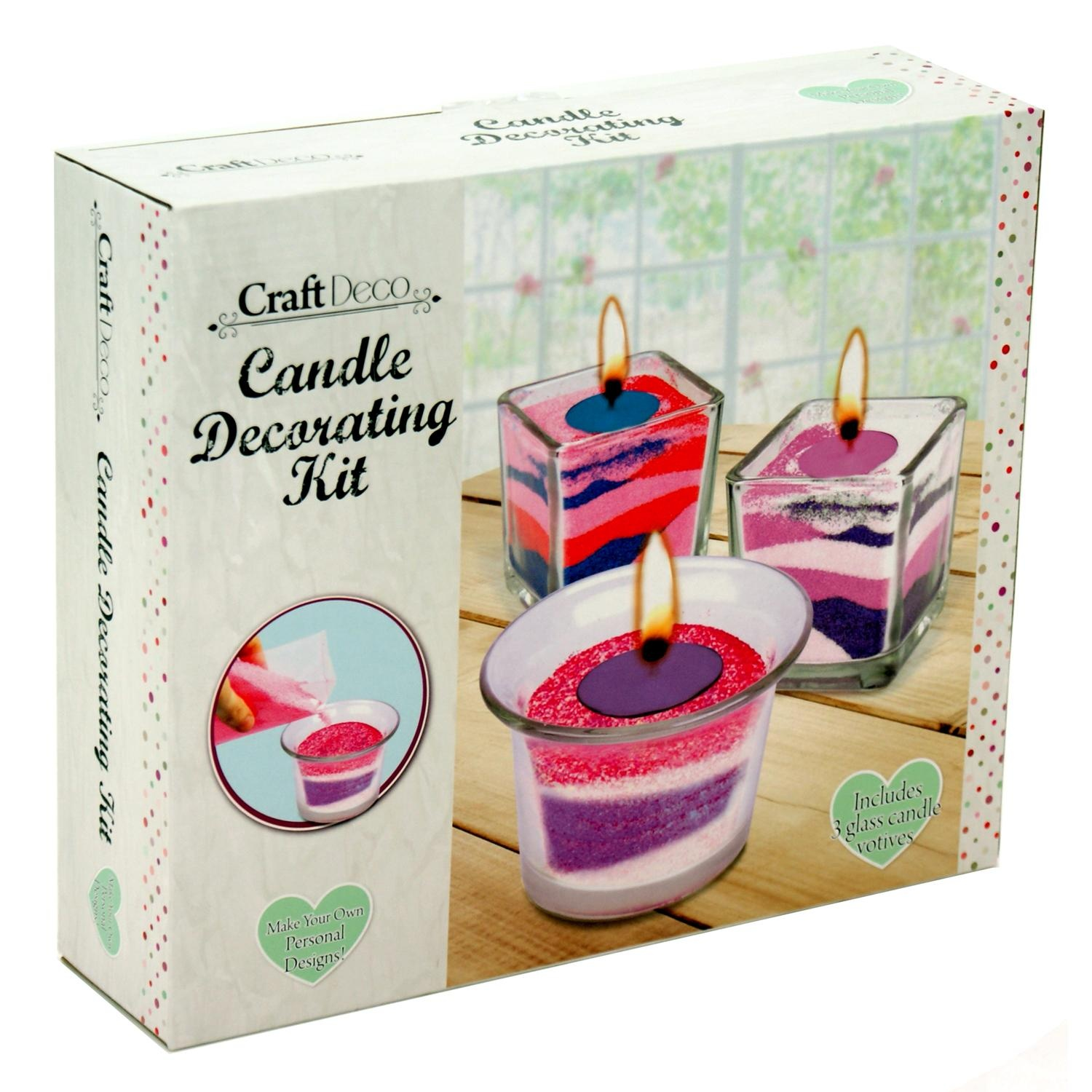 Craft Deco Make your own Glass Jar Candle Decorating Kit