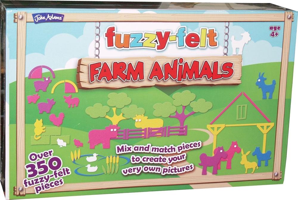 John Adams 9473 Fuzzy-Felt Farm Animals 4 ans divers