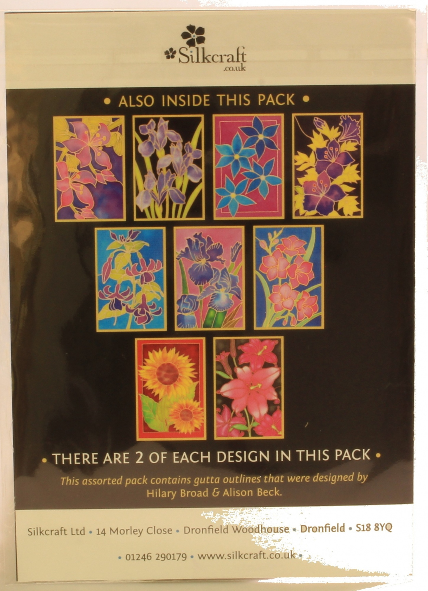 Lily Pack Pack of 5 Gutta Outlines Silkcraft Silk Painting Card Making