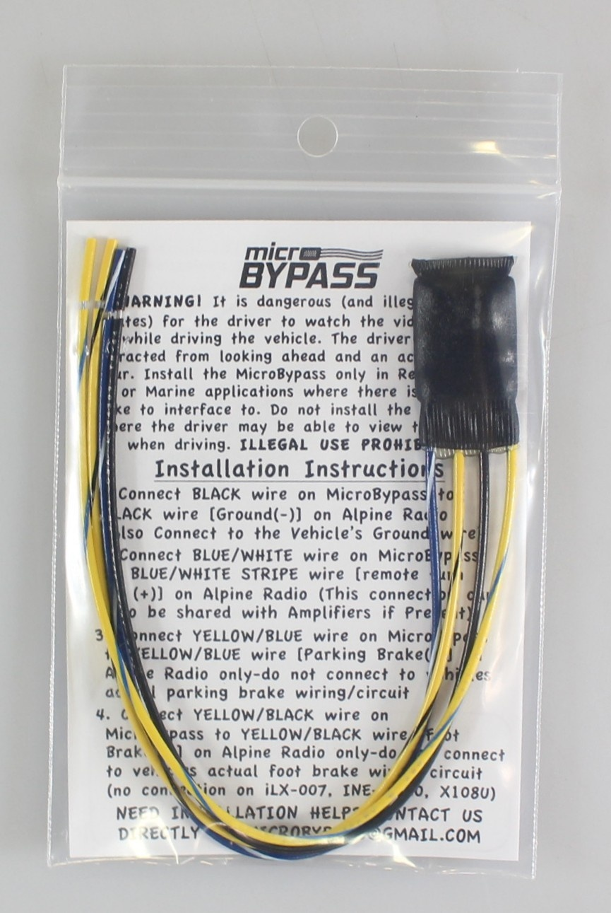 MicroBypass Parking Brake Override Bypass for Alpine