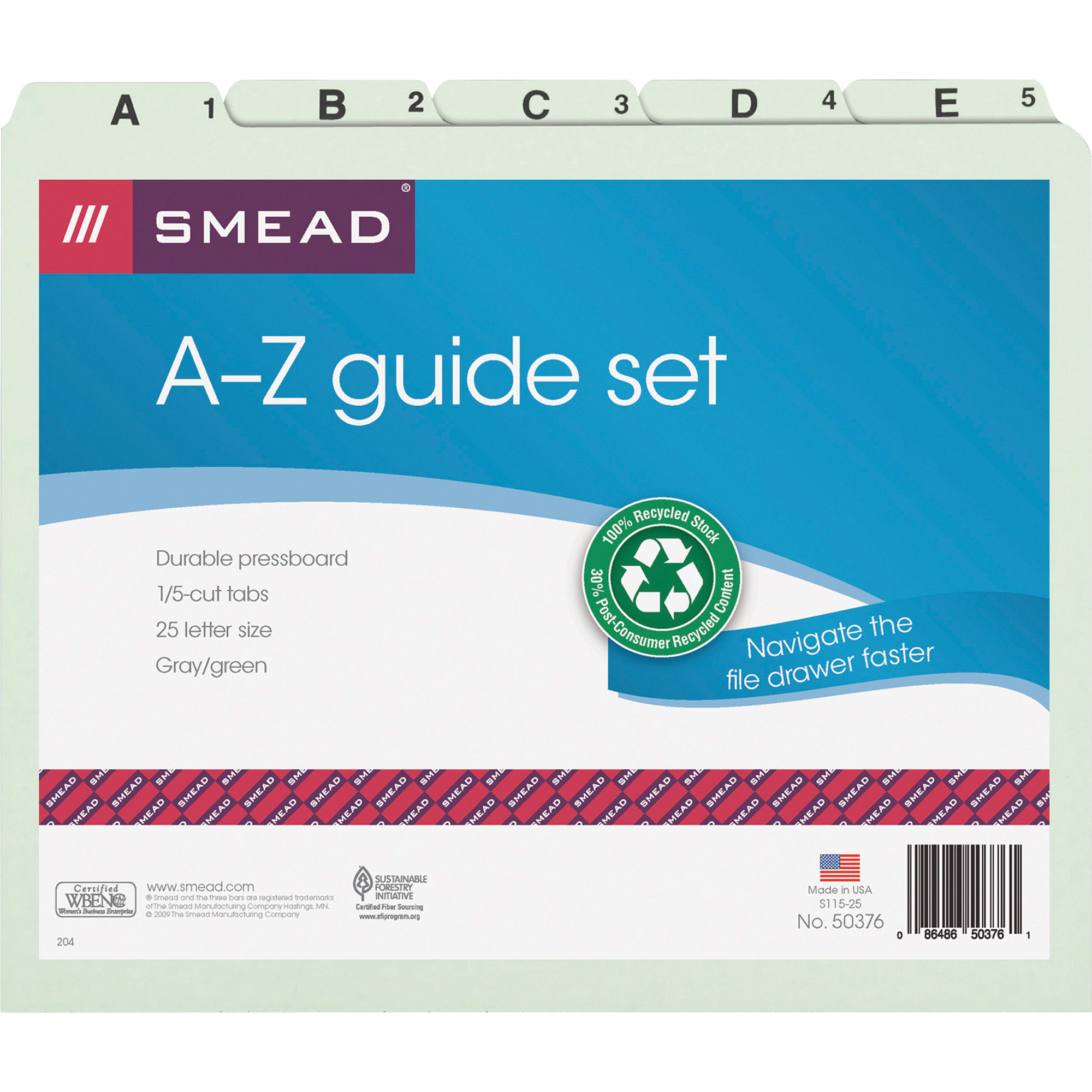 and 1-20 Smead Desk File//Sorter A-Z Legal Size 20 Dividers Alphabetic B...