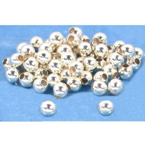 200 Ball Beads Sterling Silver Jewelry Stringing 3mm