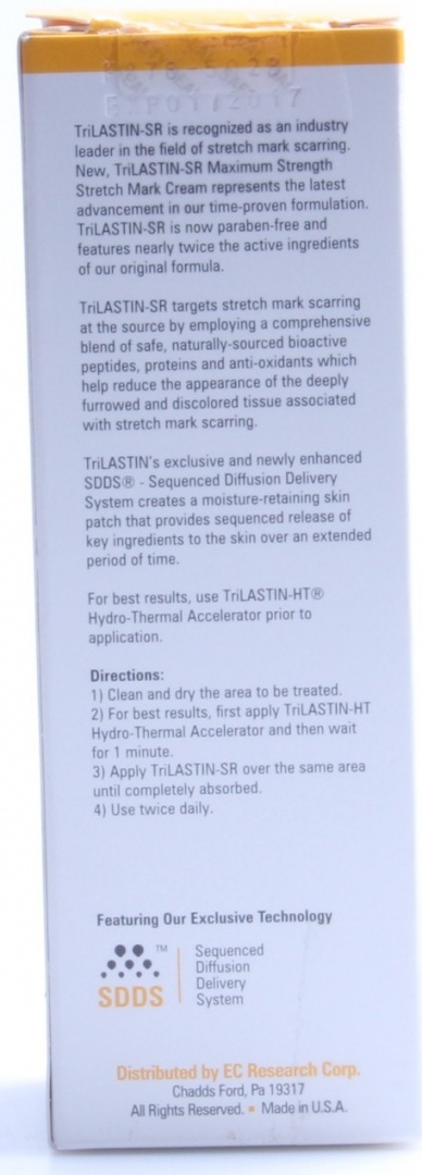 New Trilastin Sr Maximum Strength Stretch Mark Cream 160ml By