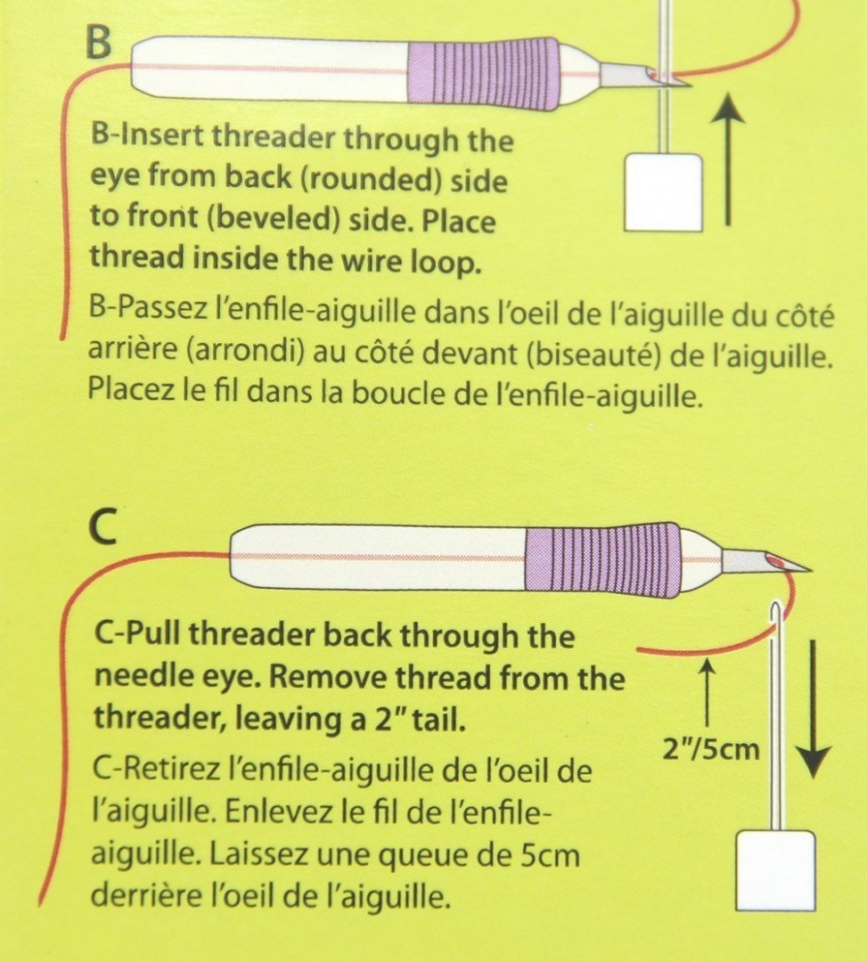 Estone 1Set Embroidery Felting Punch Needle Tool And Threader For Beginner Sewing