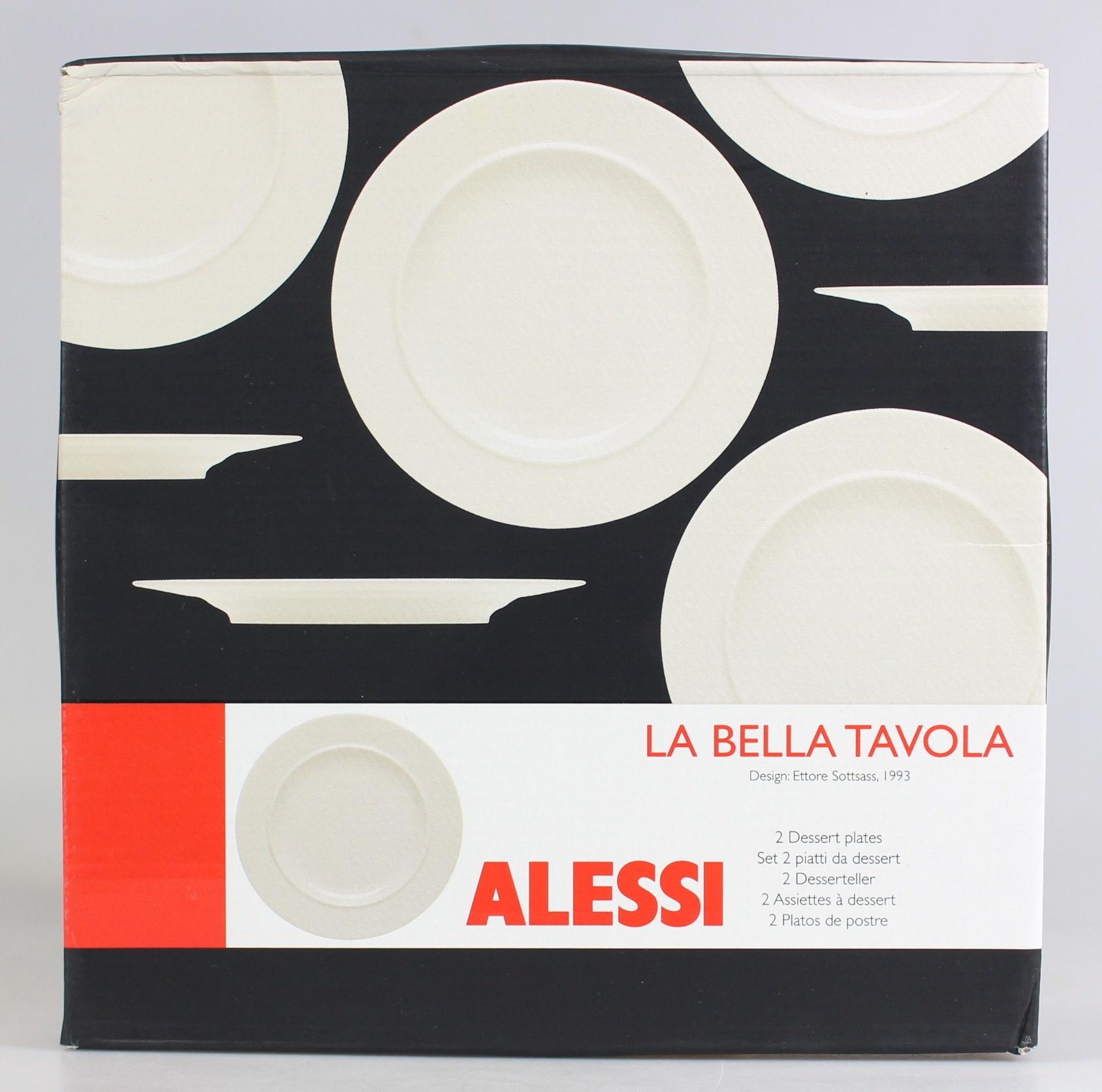 ALESSI lot de 2 assiettes La Bella Travaola