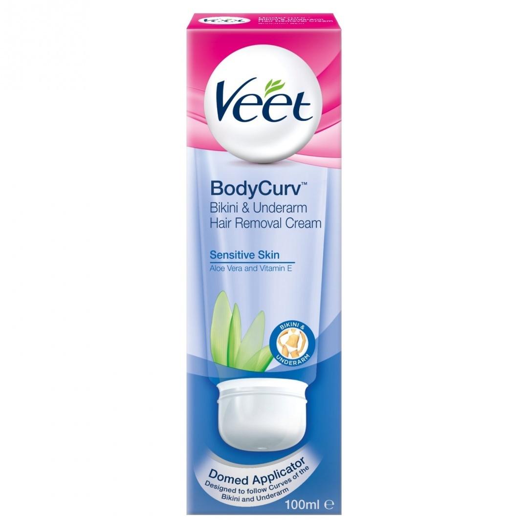 Veet 100 Ml Body Curv Bikini And Underarm Hair Removal Cream By