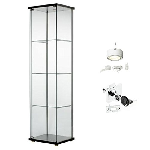 Ikea Detolf Glass Curio Display Cabinet, Glass Display Cabinet Singapore