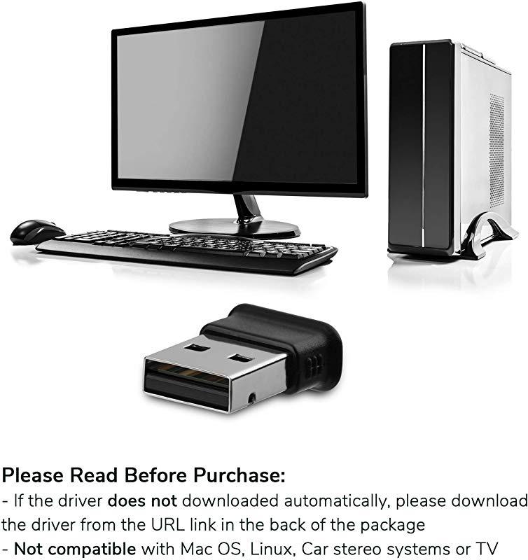 GMYLE Bluetooth Adapter Dongle Ultra-Mini USB Broadcom BCM20702 Class 2 Bluetooth V4.0 Dual Mode Dongle Wireless Adapter with LED
