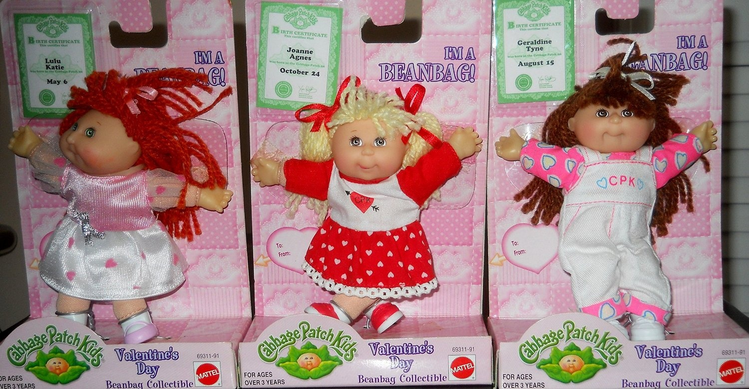 Mattel Cabbage Patch Kids Collectible Valentines Day!!