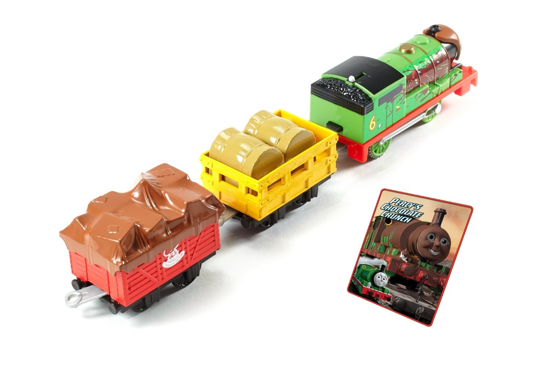 Fisher-Price Thomas /& Friends TrackMaster Percy/'s Chocolate Crunch Motorizada