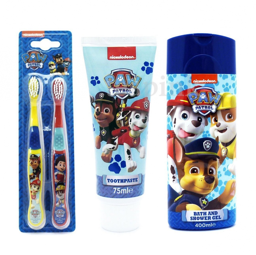 Nickelodeon-Paw Patrol Twin Pack Toothbrush Set-BRAND NEW
