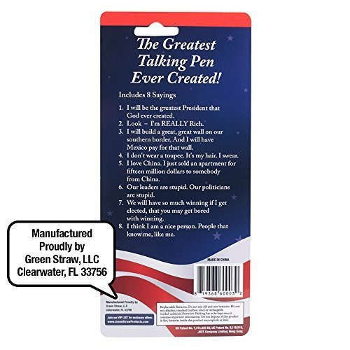 Pen with REAL VOICE Donald Trump/'s Talking Pen 8 Different Sayings