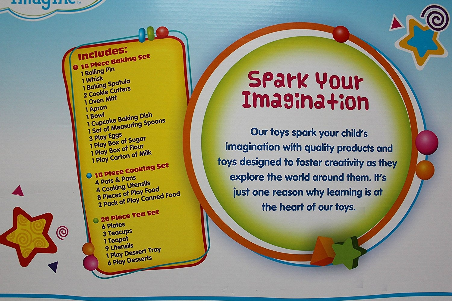 Deluxe Kitchen Play Set 60 Pieces By Spark Create Imagine Shop Online For Toys In The United States