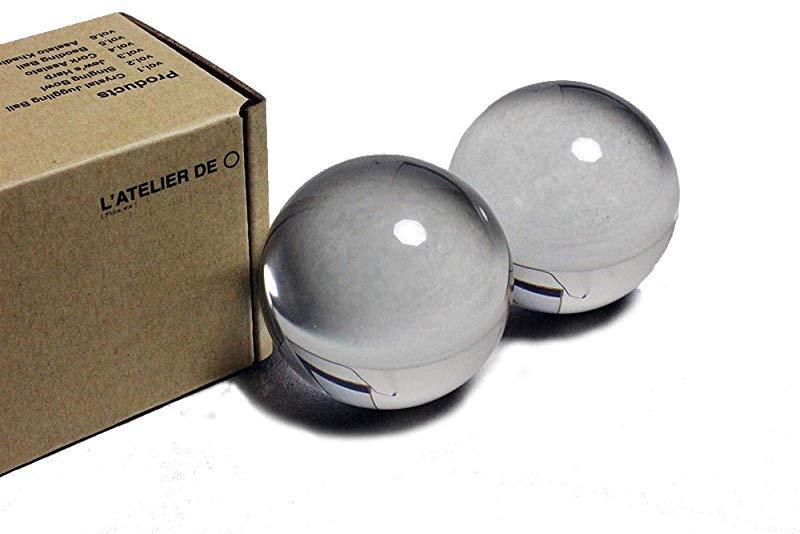 , Original Clear LATELIER DE ○ L/'ATELIER DE ○ 76mm with tap Crystal Juggling Ball