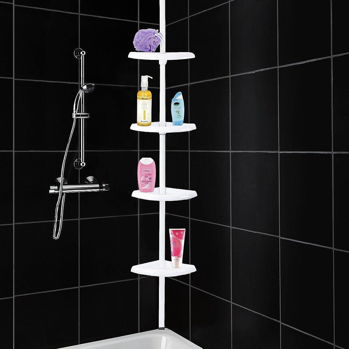 4 Tier Shelf Adjule Corner Shower