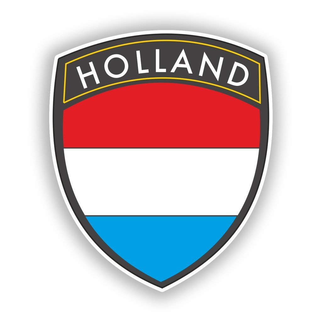 2 x Holland Flag Design Vinyl Stickers Travel Luggage #10618