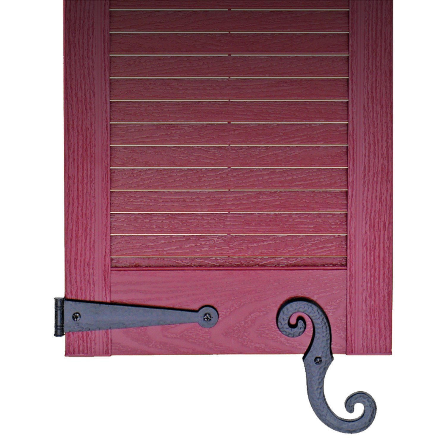 Decorative Vinyl Shutter Hinges And S Holdback Hooks For Exterior Decorative