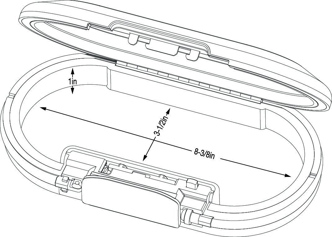 Master Lock 5900DWHT Portable Personal Safe White