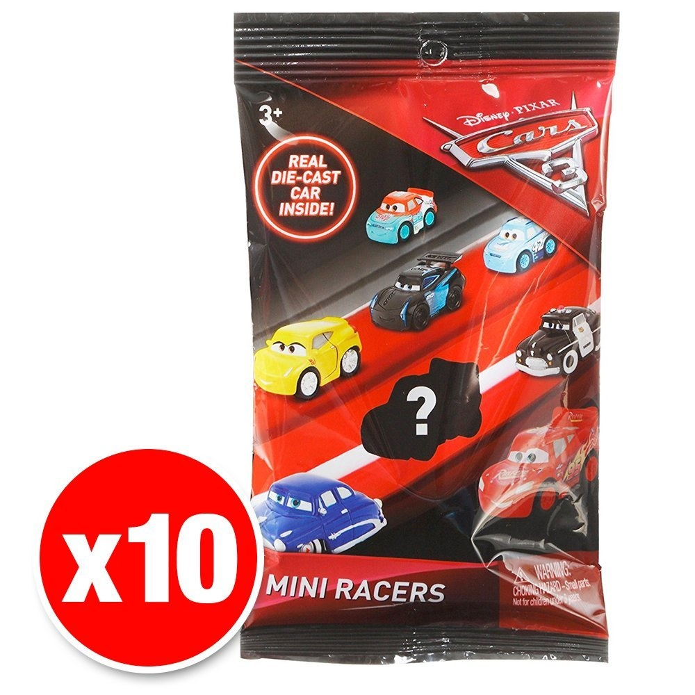 Disney Pixar Cars 3 Mini Racers Vehicles 10 Pack By