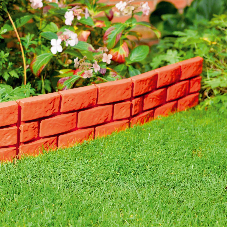 Parkland Instant Brick Effect Hammer In Plastic Garden Lawn Edging