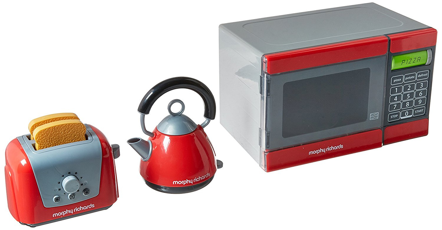 NEW MORPHY RICHARDS KITCHEN TOY SET TOASTER KETTLE TOASTER PRETEND ROLE PLAY