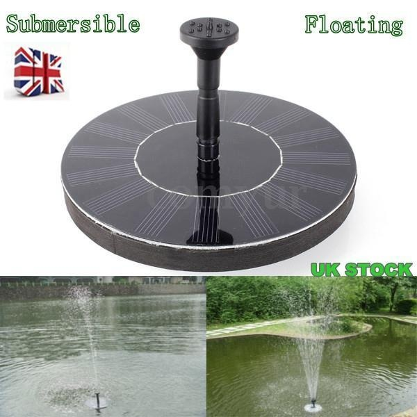 Solar Panel Powered Garden Pond Pool Submersible Floating Fountain Water Pump JD