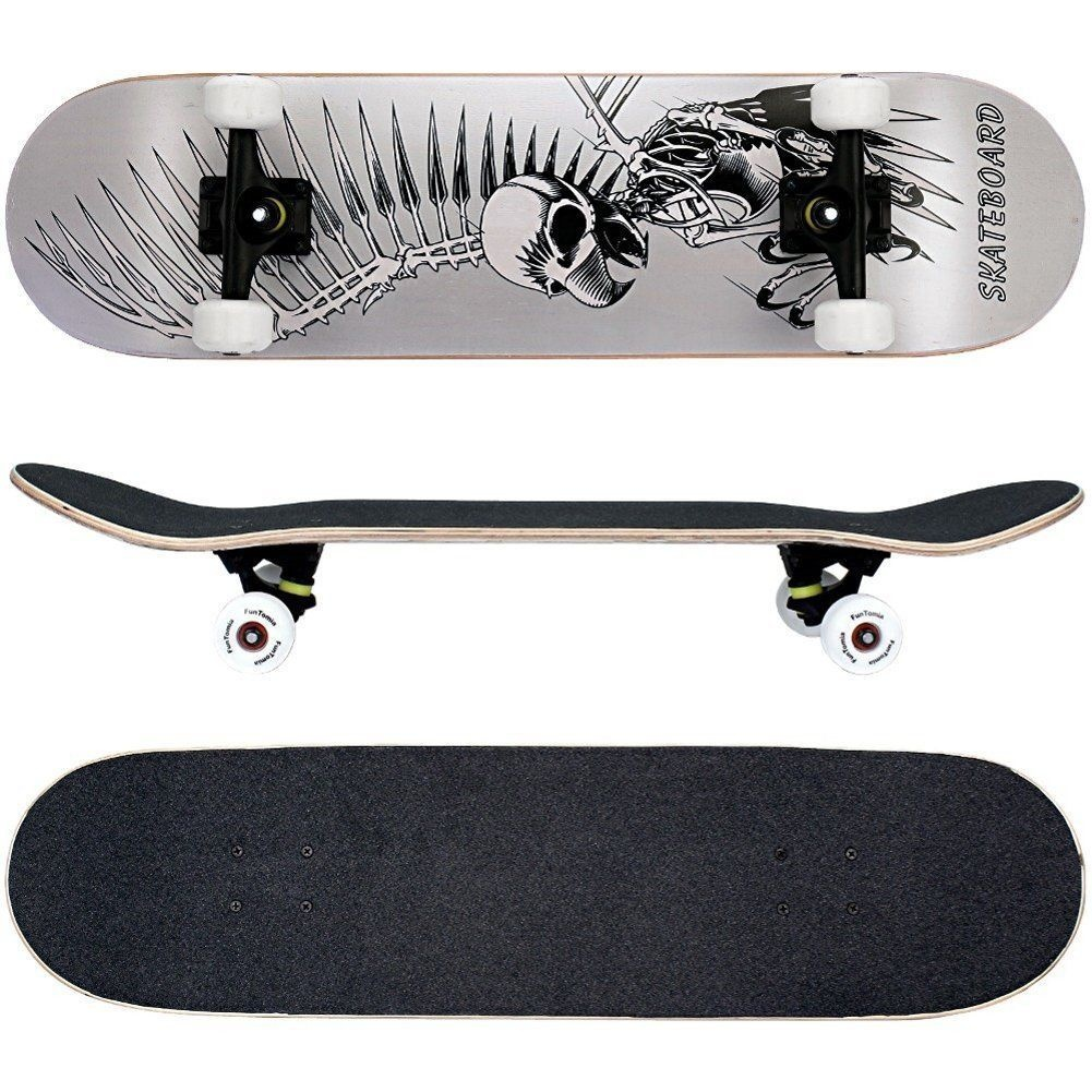 MACH1/® High Speed bearings//Wheels 53x34mm 100A 78,5cm with a Canadian 7-ply maple deck FunTomia/® Skateboard 31 INCH