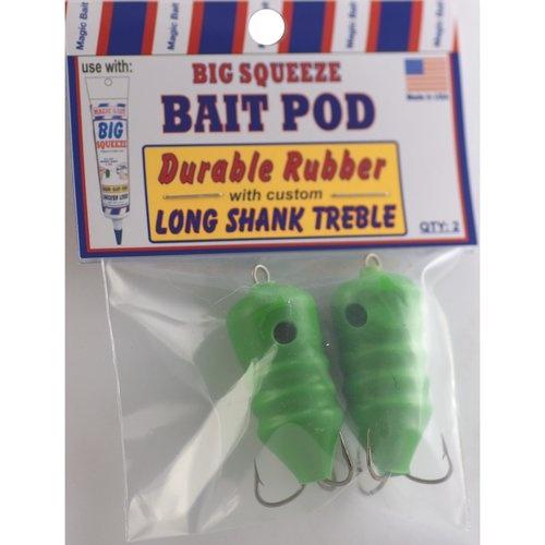 LONG SHANK TREBLE Big Squeeze Bait POD