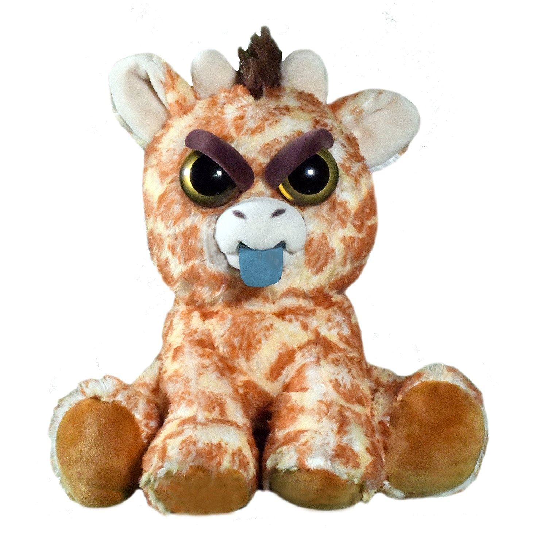 Feisty Pets Scrappy Savannah Giraffe Tongue Out Plush Key Chain