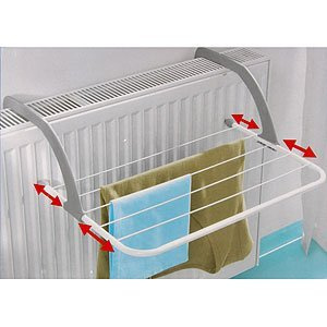 Radiator Airer With 5 Adjustable Arms For Drying Clothes Max Temp 70c