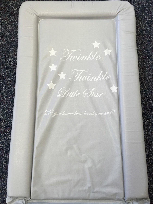 Deluxe Unisex Baby Waterproof Changing Mat Bold Grey Twinkle Twinkle
