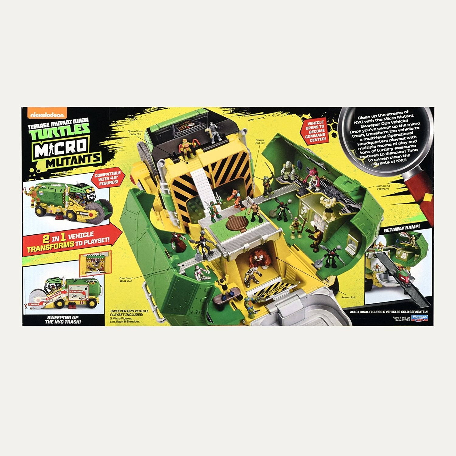 Teenage Mutant Ninja Turtles Micro Sweeper Ops Deluxe Vehicle To Playset