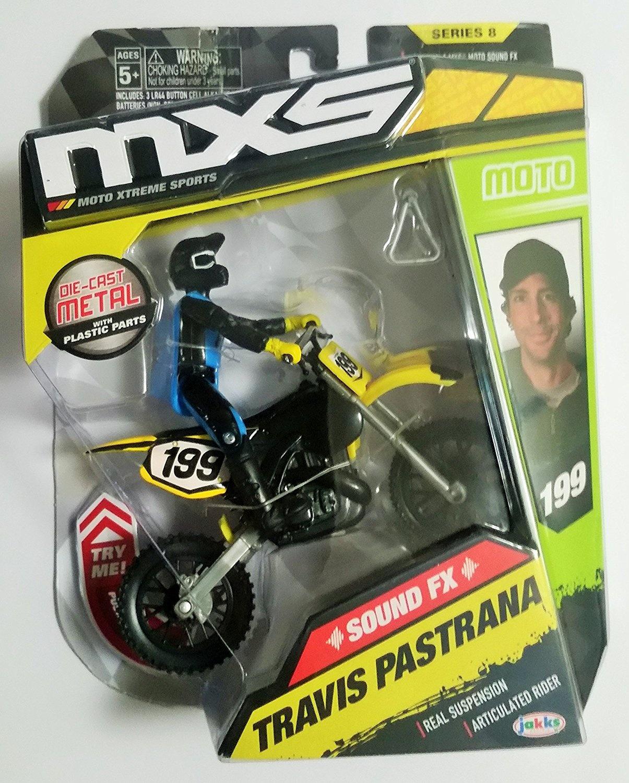 MXS New Spring 2018 Travis Pastrana by Jakks Pacific Action-Figure-Playsets Jakks Pacific Motocross Sound FX Bike /& Rider Series 11 Import 79169