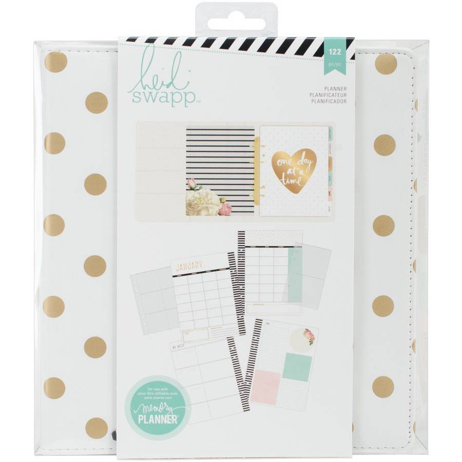 Heidi Swapp 312569 12 Piece Memory Planner Diamond Paper Clips with Gold Foil Finish