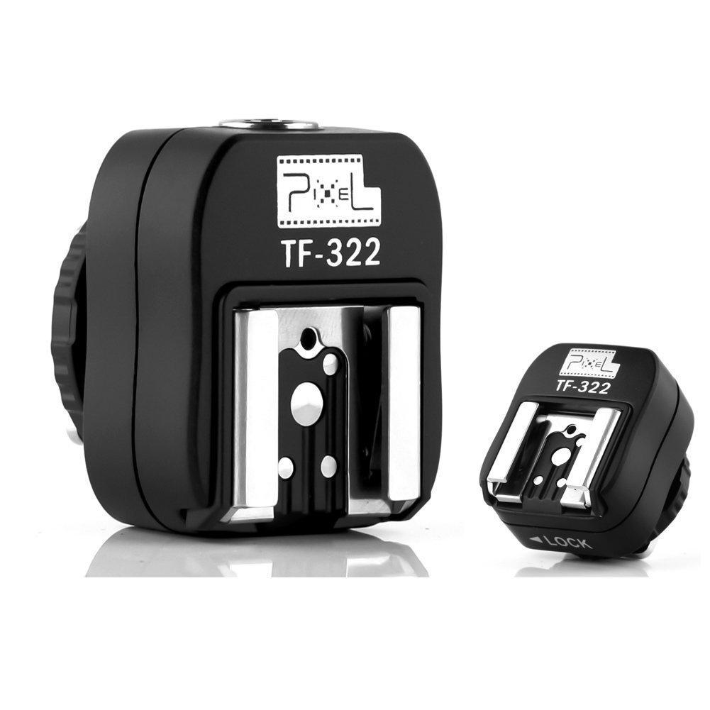 Pixel Tf-322 Flash Hot Shoe Sync Adapter with Extra Pc Sync Port Dedicated for Nikon Dslr /& Flashgun Camera Accessories Nikon Hot Shoe