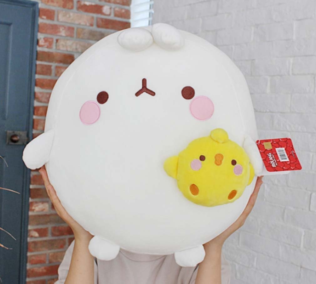Molang Rabbit 10 Plush Doll Toy Cushion Cute Figure Anime Home Room Decor;Pig Rabbit .