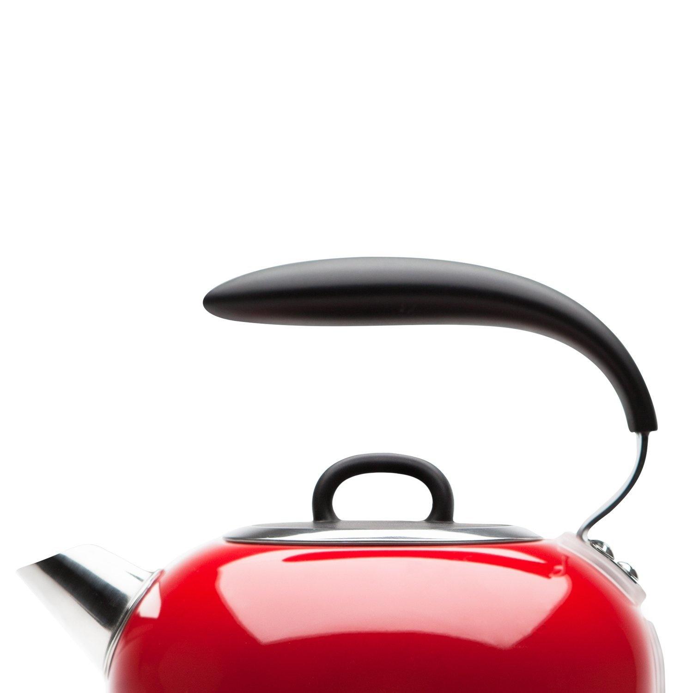 Bpa Libre, Haden 188854 Jersey Red 1.5 L Sans Fil Bouilloire avec indicateur de température