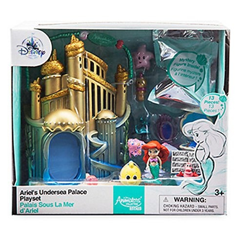 Flounder Little Mermaid Micro Playset Disney Store Princess Doll Animator