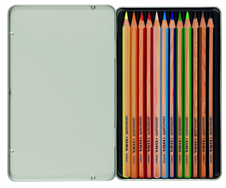LYRA Pack de 12 l/ápices, 19.1 x 11.8 x 1.4 cm