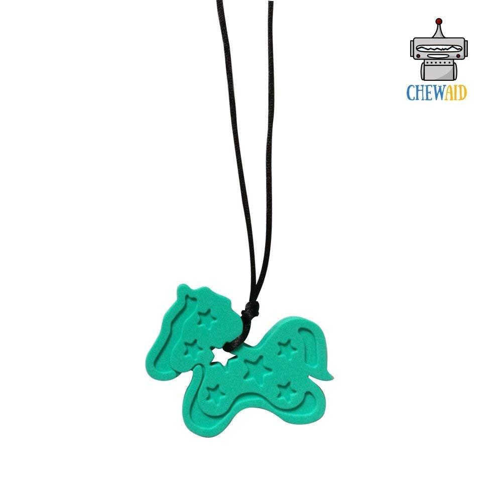 Puzzle chew sensory Autism//ADHD fidget silicone Necklace