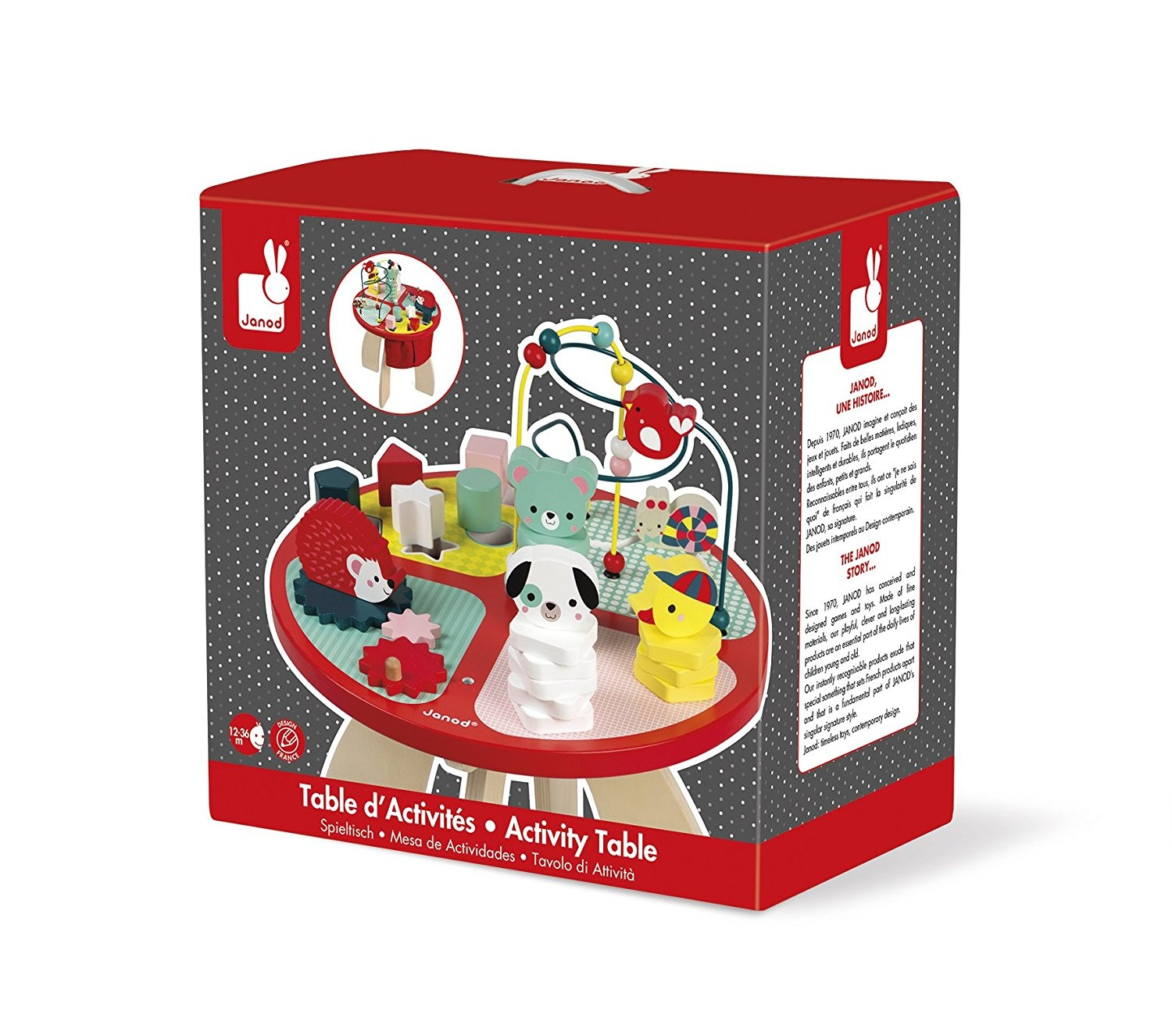 J08018 - Janod Game table Animals